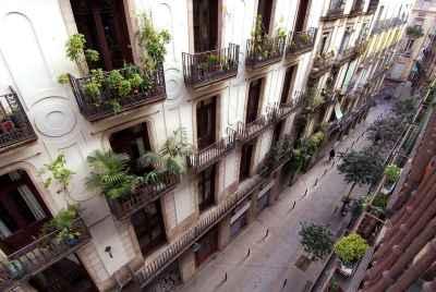 Complexe de locaux commerciaux dans le quartier gothique de Barcelone